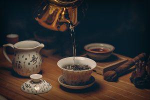 Przenie herbaty w Chinach